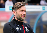 Lincoln City's assistant manager Nicky Cowley before kick off<br /> <br /> Photographer Andrew Vaughan/CameraSport<br /> <br /> The EFL Sky Bet League One - Wycombe Wanderers v Lincoln City - Saturday 7th September 2019 - Adams Park - Wycombe<br /> <br /> World Copyright © 2019 CameraSport. All rights reserved. 43 Linden Ave. Countesthorpe. Leicester. England. LE8 5PG - Tel: +44 (0) 116 277 4147 - admin@camerasport.com - www.camerasport.com