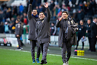 Leeds United assistant coach Pablo Quiroga waves to someone win the crowd after the match<br /> <br /> Photographer Alex Dodd/CameraSport<br /> <br /> The EFL Sky Bet Championship - Hull City v Leeds United - Saturday 29th February 2020 - KCOM Stadium - Hull<br /> <br /> World Copyright © 2020 CameraSport. All rights reserved. 43 Linden Ave. Countesthorpe. Leicester. England. LE8 5PG - Tel: +44 (0) 116 277 4147 - admin@camerasport.com - www.camerasport.com