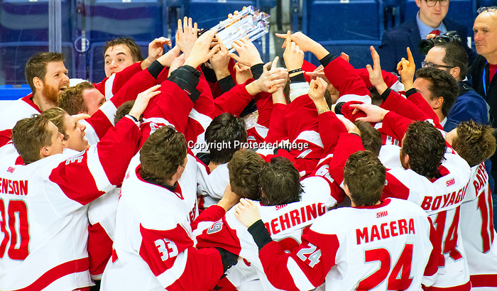 January 26, 2020:  The Sacred Heart Pioneers were underdogs in the two games of the Connecticut Ice Tourney, but ended with the trophy defeating 17th ranked Quinnipiac 4-1 in the finals. The inaugural event was held at the Webster Bank Arena in Bridgeport, Connecticut.  Heary/Eclipse Sportswire/CSM
