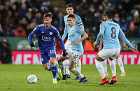 Leicester City's James Maddison breaks<br /> <br /> Photographer Andrew Kearns/CameraSport<br /> <br /> English League Cup - Carabao Cup Quarter Final - Leicester City v Manchester City - Tuesday 18th December 2018 - King Power Stadium - Leicester<br />  <br /> World Copyright © 2018 CameraSport. All rights reserved. 43 Linden Ave. Countesthorpe. Leicester. England. LE8 5PG - Tel: +44 (0) 116 277 4147 - admin@camerasport.com - www.camerasport.com