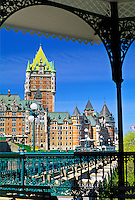 Canada, Quebec, Quebec City, Chateau Frontenac and the Dufferrin Terrac