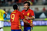 David Jimenez Silva and Pedro Rodriguez of Spain celebrates after scoring a goal during the friendly match between Spain and Colombia at Nueva Condomina Stadium in Murcia, jun 07, 2017. Spain. (ALTERPHOTOS/Rodrigo Jimenez)
