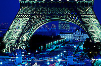 Images from the Book Journey Through Colour and Time.Paris Eifel Tower at dusk,France
