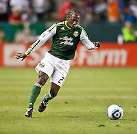 CARSON, CA – June 3, 2011: Portland Timbers midfielder Diego Chara (21) during the match between Chivas USA and Portland Timbers at the Home Depot Center in Carson, California. Final score Chivas USA 1, Portland Timbers 0.