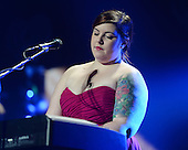 SUNRISE, FL - DECEMBER 21: Mary Lambert performs during the Y100's Jingle Ball 2014 at BB&T Center on December 21, 2014 in Miami, Florida. Credit Larry Marano (C) 2014