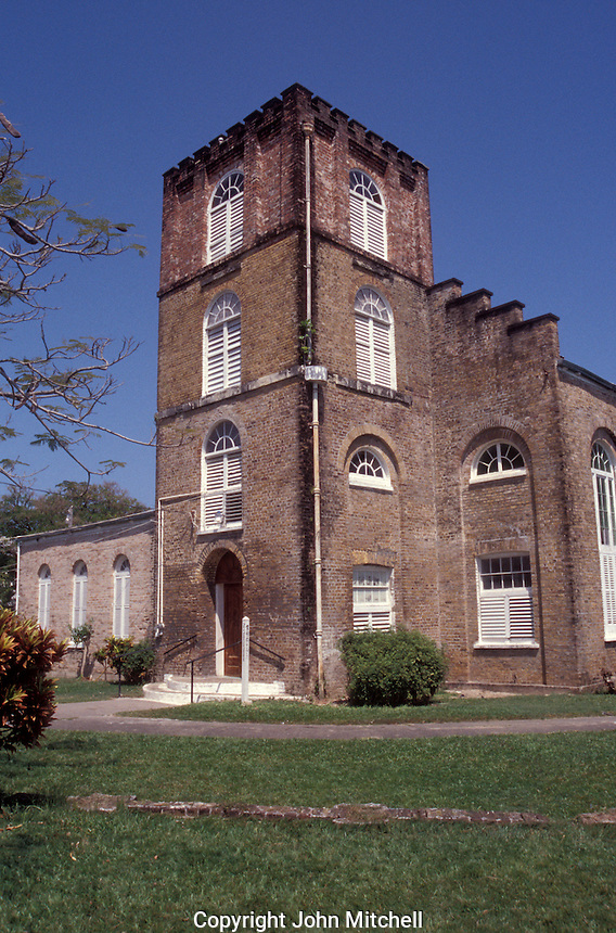 Saint John's Cathedral in Belize City, Belize. Dating back to 1847, this is the oldest Anglican church in Central America.