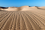 Beautiful desert sand dunes of Lac Naila, Morocco.