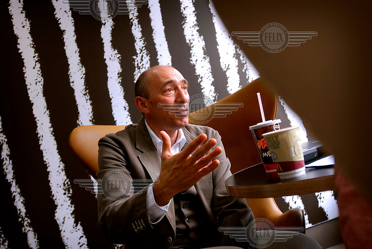 Denis Hennequin, Head of McDonald's Europe during an interview at a McDonald's restaurant on London's Edgware Road.  McDonald's Stores have had a major redesigned throughout Europe..