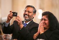 Proud parents at the Graduation Ceremony, University of Surrey.