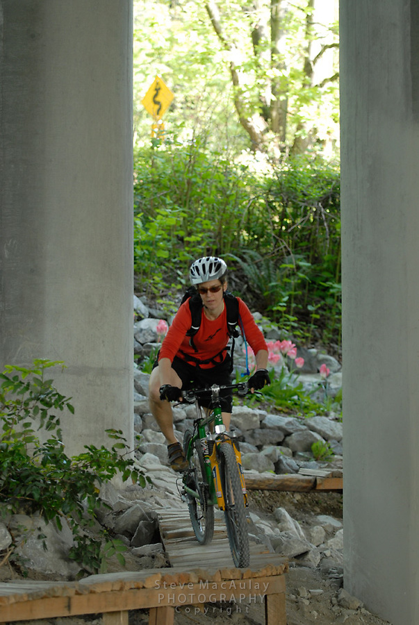 Mountain Biking at the Colonade Bike Park - Seattle WA. Urban Skills Park