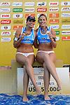 31.05.2015, Moskau, Vodny Stadion<br /> Moskau Grand Slam, Siegerehrung<br /> <br /> 3. Platz / Bronze / Bronzemedaille: Marta Menegatti / Viktoria Orsi Toth (ITA)<br /> <br />   Foto &copy; nordphoto / Kurth