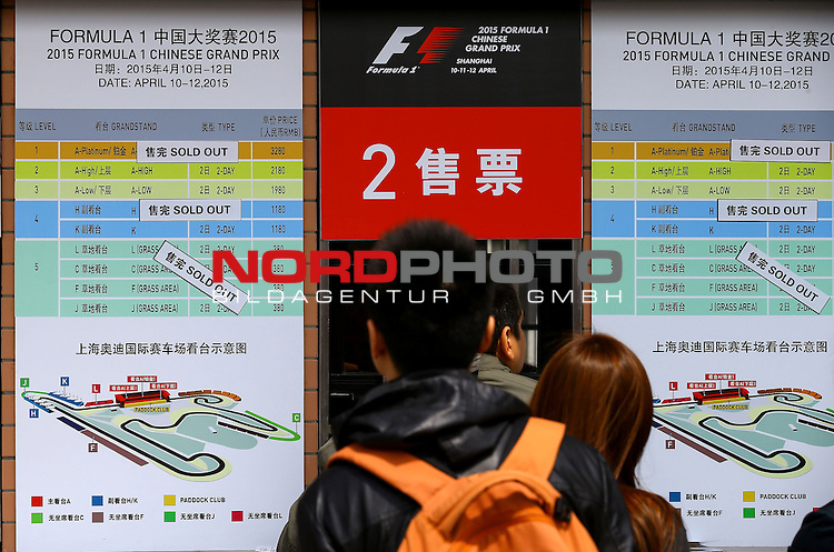 12.04.2015, Shanghai-International-Circuit, Schanghai, CHN, Gro&szlig;er Preis von China / Schanghai 2015, im Bild  China GP Impressions <br /> for the complete Middle East, Austria &amp; Germany Media usage only!<br />  Foto &copy; nph / Mathis
