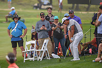Byeong Hun An (KOR) chips on to 18 from the gallery during day 3 of the Valero Texas Open, at the TPC San Antonio Oaks Course, San Antonio, Texas, USA. 4/6/2019.<br /> Picture: Golffile | Ken Murray<br /> <br /> <br /> All photo usage must carry mandatory copyright credit (&copy; Golffile | Ken Murray)