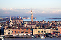 View from the roof deck at San Giorgio Church in Venice, Italy