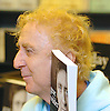 Gene Wilder actor and author appearance and book signing his book Kiss Me Like A Stranger <br /> at Waterstones Book store Oxford Street, London, Great Britain <br /> 7th June 2005 <br /> <br /> <br /> Gene Wilder was born <br /> Jerome Silberman<br /> June 11, 1933 in<br /> Milwaukee, Wisconsin, U.S. and he <br /> died	August 29, 2016 (aged 83)<br /> Stamford, Connecticut, U.S.<br /> cause of death	complications of Alzheimer's disease<br /> <br /> Photograph by Elliott Franks <br /> Image licensed to Elliott Franks Photography Services