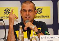 José Roberto Guimarães tecnico da seleção brasileira feminina de vôlei, durante entrevista coletiva nesta SEGUNDA-FEIRA (13)  no Hotel Marriot Guarulhos.FOTO ALE VIANNA/BRAZIL PHOTO PRESS