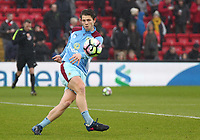 Burnley's James Tarkowski during the pre-match warm-up <br /> <br /> Photographer Rich Linley/CameraSport<br /> <br /> The Premier League - Liverpool v Burnley - Sunday 12 March 2017 - Anfield - Liverpool<br /> <br /> World Copyright &copy; 2017 CameraSport. All rights reserved. 43 Linden Ave. Countesthorpe. Leicester. England. LE8 5PG - Tel: +44 (0) 116 277 4147 - admin@camerasport.com - www.camerasport.com