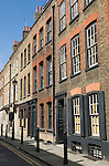 Spitalfield London Uk. Georgian town houses.  Fournier Street Londn EC1