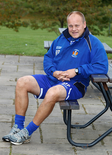 Mixu Paatelainen at Glasgow Science Park after Kilmarnock training