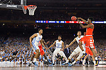 02 APR 2016:  Tyler Roberson (21) of Syracuse University makes a pass against the University of North Carolina during the NCAA Division I Men's Final Four held at NRG Stadium in Houston, TX.  North Carolina defeated Syracuse 83-66 to advance to the finals.  Jamie Schwaberow/NCAA Photos