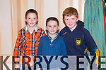 Jack O'Leary, Oisin O'Leary and Donal Daly enjoying  the Community Games Awards Dinner at the River Island Hotel Castleisland on Friday