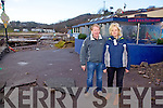 Ray Madden & Catherine Carroll outside Carrolls Cove with the damage caused by Monday mornings storm.