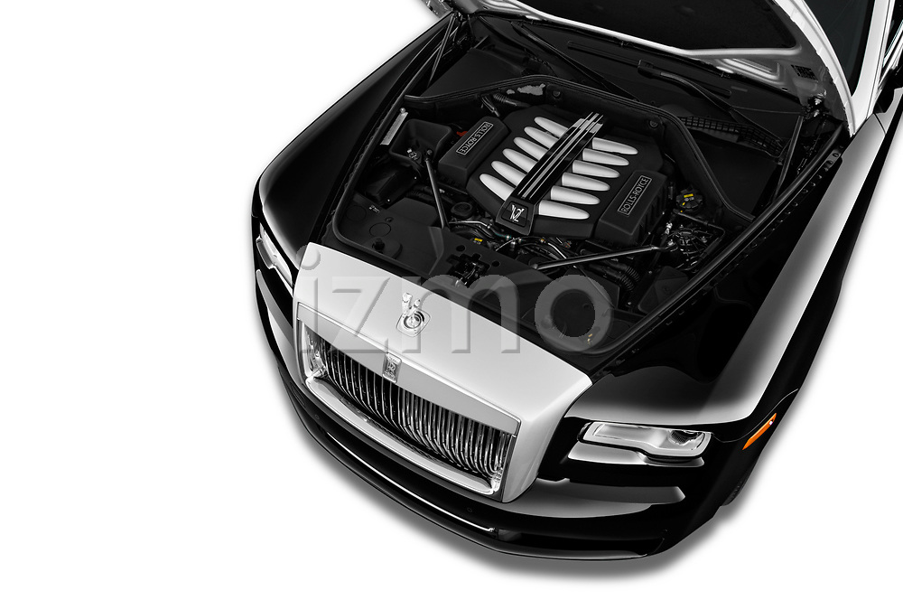 Car Stock 2018 Rollsroyce Ghost - 4 Door Sedan Engine  high angle detail view