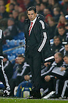 Chris Coleman, manager of Wales looks thoughtful during the international friendly match at the Cardiff City Stadium. Photo credit should read: Philip Oldham/Sportimage