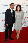 WESTWOOD, CA. - September 17: George Lopez and wife Ann Serrano arrive at the 2009 ALMA Awards held at Royce Hall on the UCLA Campus on September 17, 2009 in Los Angeles, California.