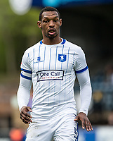Goal scorer Captain Krystian Pearce of Mansfield Town during the Sky Bet League 2 match between Wycombe Wanderers and Mansfield Town at Adams Park, High Wycombe, England on the 14th April 2017. Photo by Liam McAvoy.
