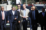 Britain's Prince William walks with Musa Hadid, the mayor of Ramallah, at a reception during his visit to the West Bank city of Ramallah on June 27, 2018. The Duke of Cambridge is the first member of the royal family to make an official visit to the Jewish state and the Palestinian territories. Photo by Shadi Hatem
