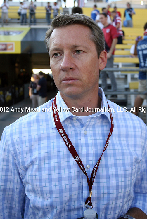 11 September 2012: Fox Sports broadcaster Rob Stone. The United States Men's National Team defeated the Jamaica Men's National Team 1-0 at Columbus Crew Stadium in Columbus, Ohio in a CONCACAF Third Round World Cup Qualifying match for the FIFA 2014 Brazil World Cup.