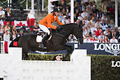 28th September 2017, Real Club de Polo de Barcelona, Barcelona, Spain; Longines FEI Nations Cup, Jumping Final; Jur VRIELING  (NED) riding Vdl Glasgow V Merelesest during the first round of the Nations Cup