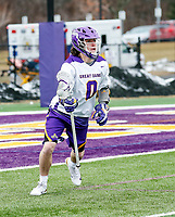 University at Albany Men's Lacrosse defeats Drexel 18-5 on Feb. 24 at Casey Stadium.  Davis Diamond (#0). (Photo by Bruce Dudek / Cal Sport Media/Eclipse Sportswire)