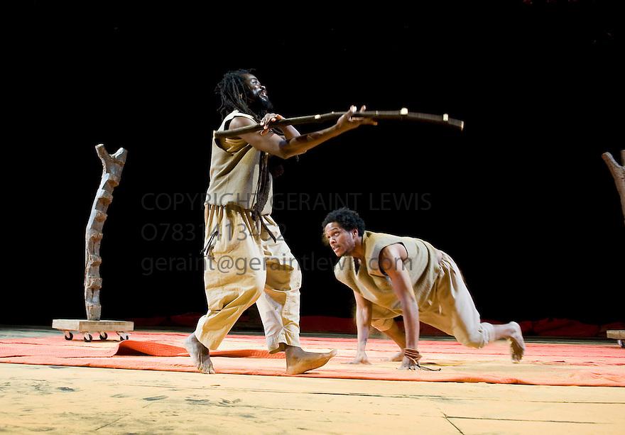 11 and 12. A CICT/Theatre des Bouffes du Nord Production adapted from the works of Amadou Hampate Ba by Marie-Helene Estienne and Peter Brook. Directed by Peter Brook.With Abdou Ouologuem,Jared McNeill.Opens at The Barbican Theatre on 10/2/10. Credit Geraint Lewis