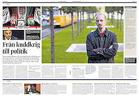 HBL/Hufvudstadsbladet (Swedish minority daily, Finland) on Hungarian politics and the oppositional party 4K, 2013.10.05. Photo: Martin Fejer