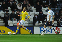 Leeds United's Patrick Bamford under pressure from Preston North End's Jordan Storey<br /> <br /> Photographer Kevin Barnes/CameraSport<br /> <br /> The EFL Sky Bet Championship - Preston North End v Leeds United -Tuesday 9th April 2019 - Deepdale Stadium - Preston<br /> <br /> World Copyright &copy; 2019 CameraSport. All rights reserved. 43 Linden Ave. Countesthorpe. Leicester. England. LE8 5PG - Tel: +44 (0) 116 277 4147 - admin@camerasport.com - www.camerasport.com