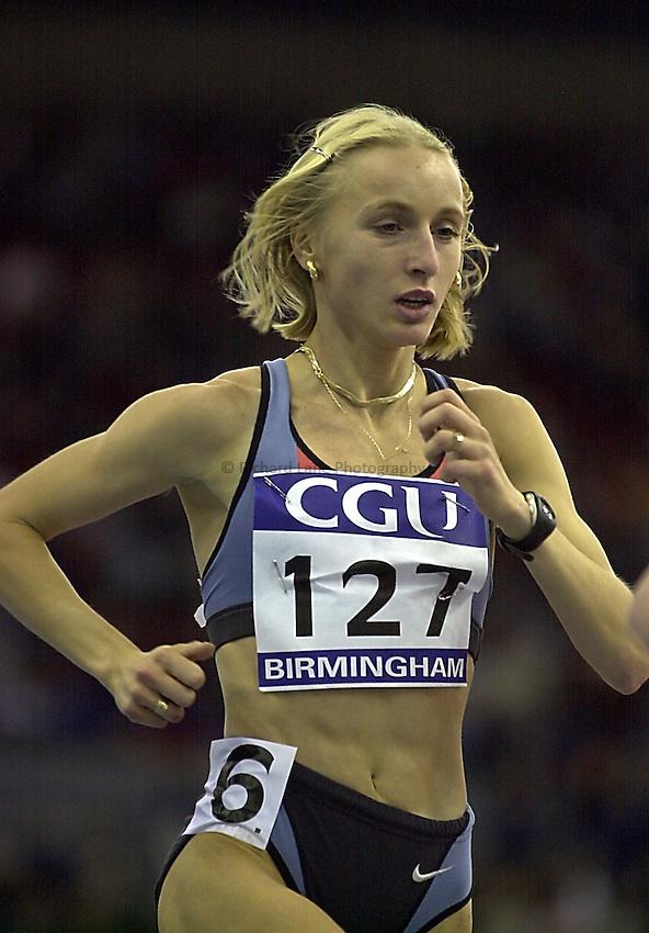 Photo. Richard Lane.CGI Indoor Grand Prix Athletics, NIA, Birmingham.20/2/2000. .Gabriela Szabo.
