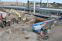 Construction Progress Photography of the Railroad Station at Fairfield Metro Center. 28th Site Visit, Pre-Construction, of once per month periodic photography coverage of the entire project. Primary Contractor: The Middlesex Corporation, Littleton, MA. Owner: Connecticut Department of Transportation. Serving Metro-North Commuter Railroad.