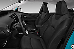 Front seat view of a 2017 Toyota Prius Plug-in Hybride Solar 5 Door Hatchback front seat car photos