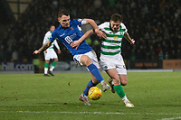 29th January 2020; McDairmid Park, Perth, Perth and Kinross, Scotland; Scottish Premiership Football, St Johnstone versus Celtic; James Forrest of Celtic is tackled by Jason Kerr of St Johnstone