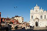 ITALY, Venice. View of the Scuola Grande di San Marco located in the Campo Santi Giovanni e Paolo in the Castello district.  Castello is the largest of the six sestieri of Venice.