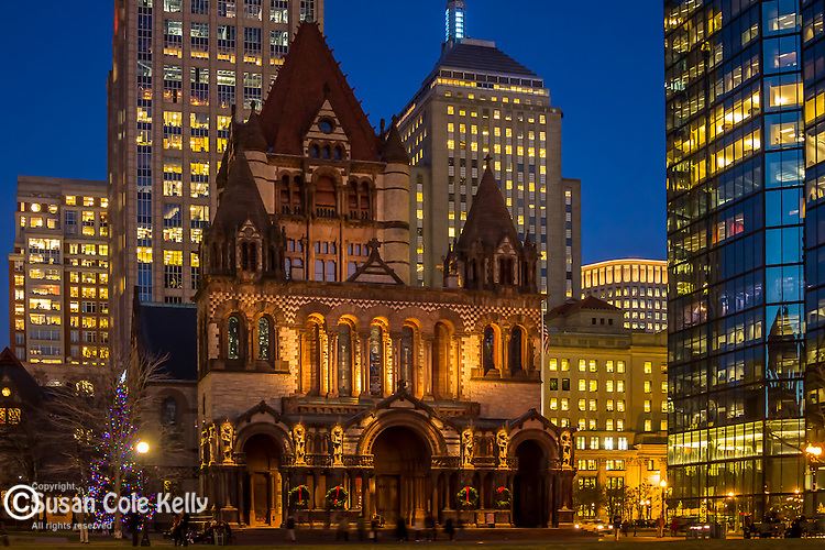 Trinity Church in Copley Square, Boston, Massachusetts, USA