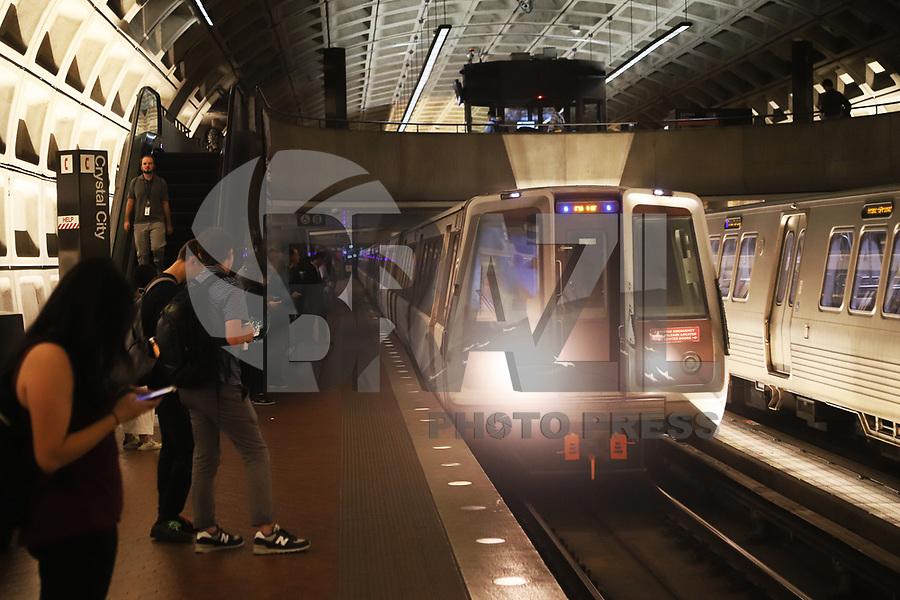 WASHINGTON DC, EUA, 08.10.2019 - TURISMO-WASHINGTON DC - Estação Crystal City do Metrô, na cidade de Washington DC, capital dos Estados Unidos, nesta terça-feira, 8. (Foto Charles Sholl/Brazil Photo Press/Folhapress)