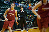 INDIANAPOLIS, IN - APRIL 2, 2011: Head Coach Tara VanDerveer during an open practice session at Conseco Fieldhouse at the NCAA Final Four in Indianapolis, IN on April 1, 2011.