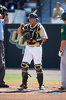 UCF Knights catcher Matt Diorio (14) during a game against the Siena Saints on February 21, 2016 at Jay Bergman Field in Orlando, Florida.  UCF defeated Siena 11-2.  (Mike Janes/Four Seam Images)