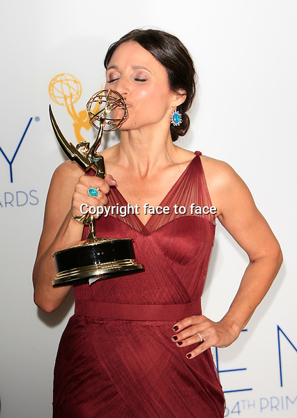 Julia Louis Dreyfus at the 64th Annual Primetime Emmy Awards held in Los Angeles, California on 23.9.2012..Credit: Martin Smith/face to face