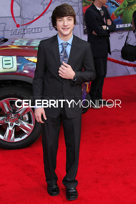 "HOLLYWOOD, LOS ANGELES, CA, USA - MARCH 11: Jake Short at the World Premiere Of Disney's ""Muppets Most Wanted"" held at the El Capitan Theatre on March 11, 2014 in Hollywood, Los Angeles, California, United States. (Photo by Xavier Collin/Celebrity Monitor)"