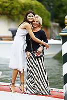 VENICE, ITALY - September 1st: Isabeli Fontana and Alberta Ferretti arrive at Darsena Excelsior during 74th Venice Film Festival at Excelsior Hotel on September 1st, 2017 in Venice, Italy. (Mark Cape/insidefoto)