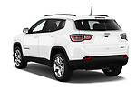 Car pictures of rear three quarter view of a 2018 Jeep Compass Latitude 5 Door SUV angular rear